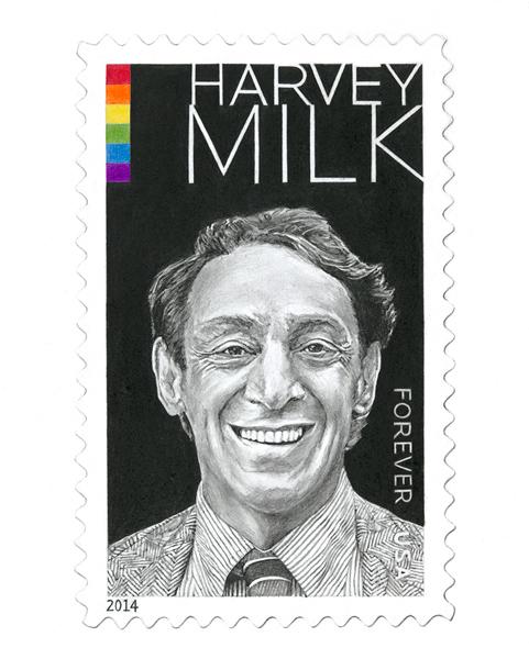 "Harvey Milk, 8""x10"""