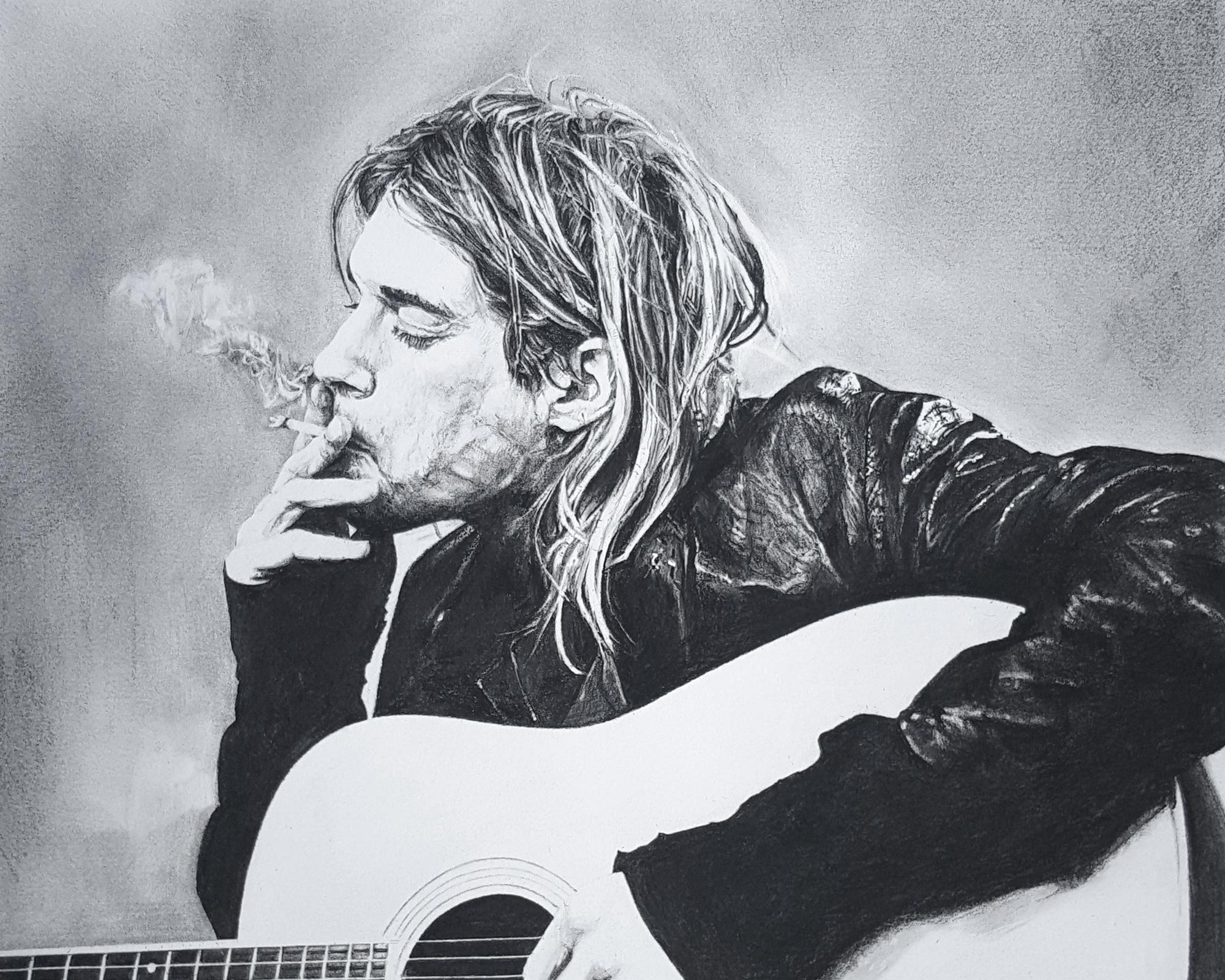 """Kurt Cobain, 8""""x10"""""""