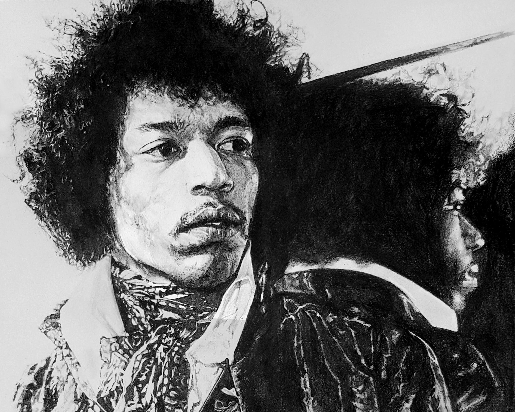 """Jimi Hendrix, 8""""x10"""""""