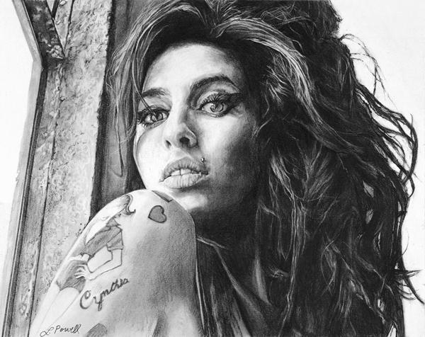 "Amy Winehouse, 8""x10"""