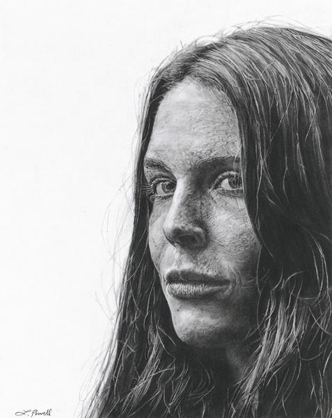 "8""x10"" charcoal portrait drawing"