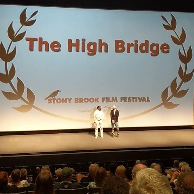 With producer @johnreefer @stonybrookff @stallercenter this weekend. Stony Brook Film Festival is among the very best out there 🙌🏼 I started making films in high school in nearby Port Jefferson. To show our film in a theater with 1,000 seats was 💯🙏🏼😊 . . . #thehighbridgefilm #blackfathers #madeinnyc #makingmovies #bronxfilm #bronxmovies #bronxstorytelling #filmfestival #stonybrookuniversity #stonybrookfilmfestival #stallercenter