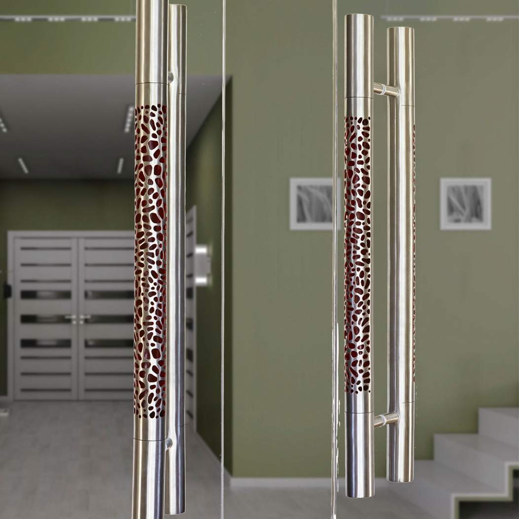 Contemporary entry door  pull Morphic