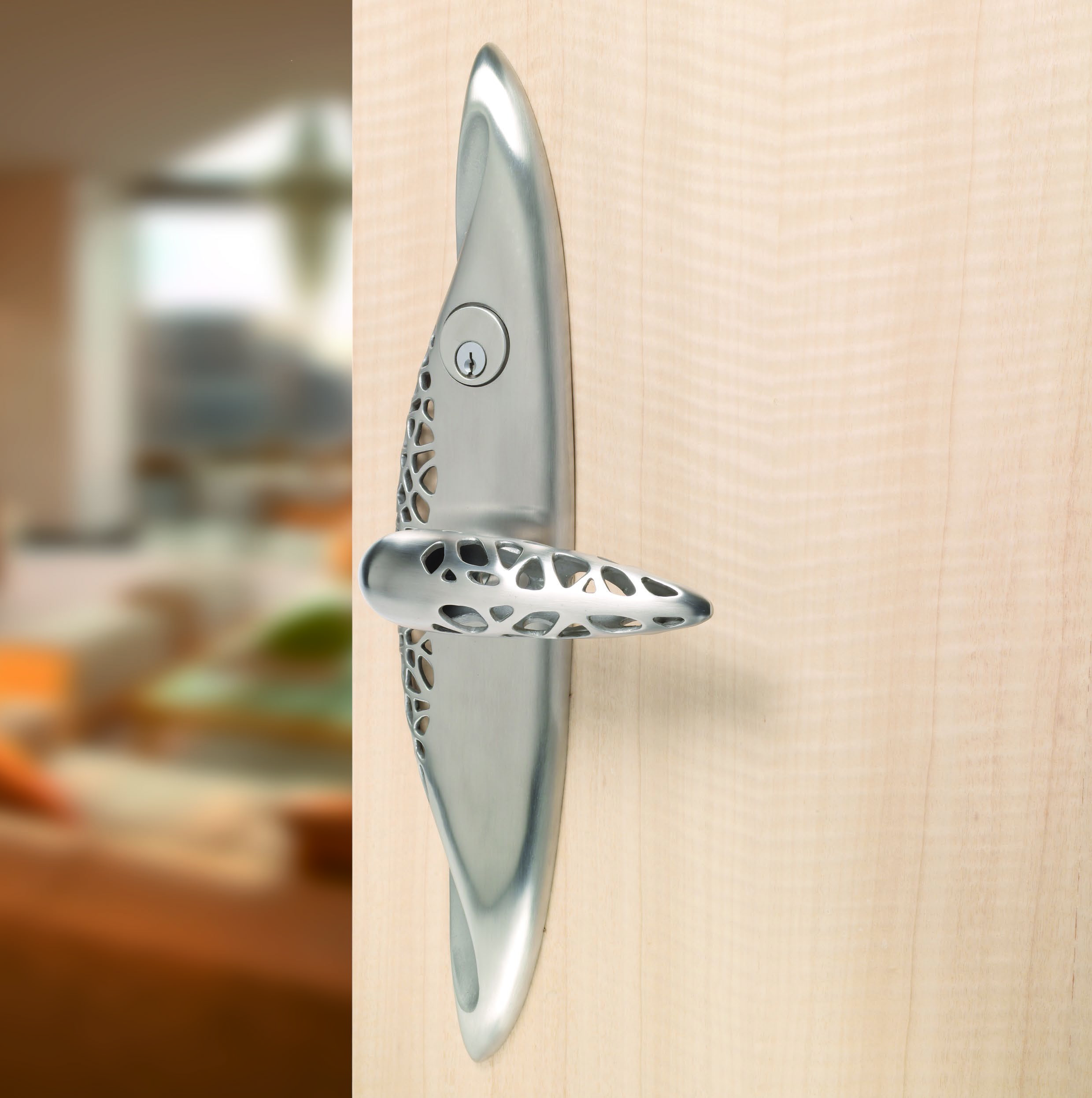Contemporary entry door  lever Morphic