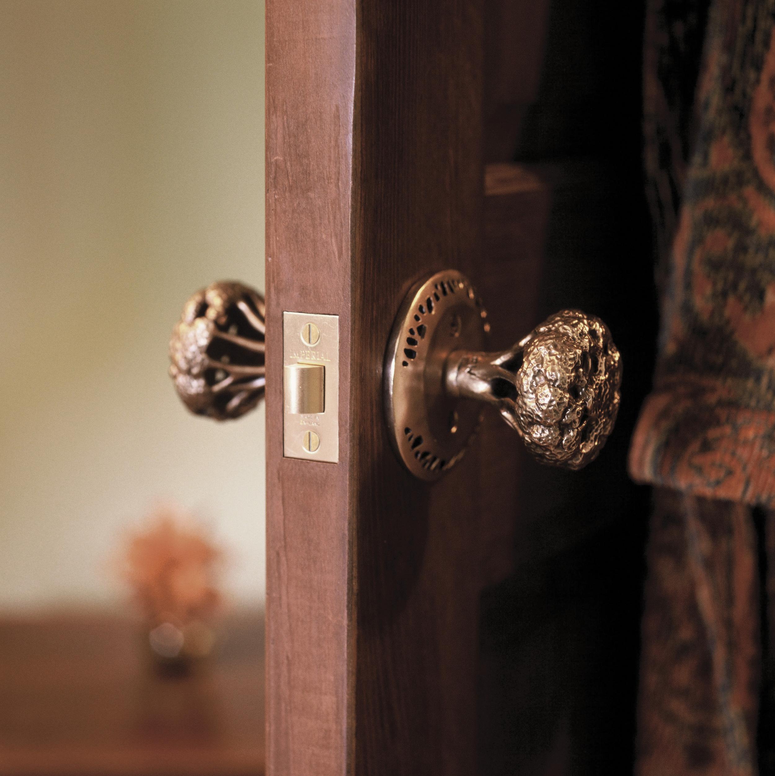 Custom interior door knob Hedgerow