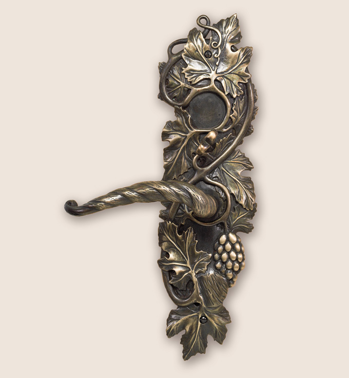 Grapevine door lever from Martin Pierce Hardware Los Angeles CA 90016  Photo by Doug Hill