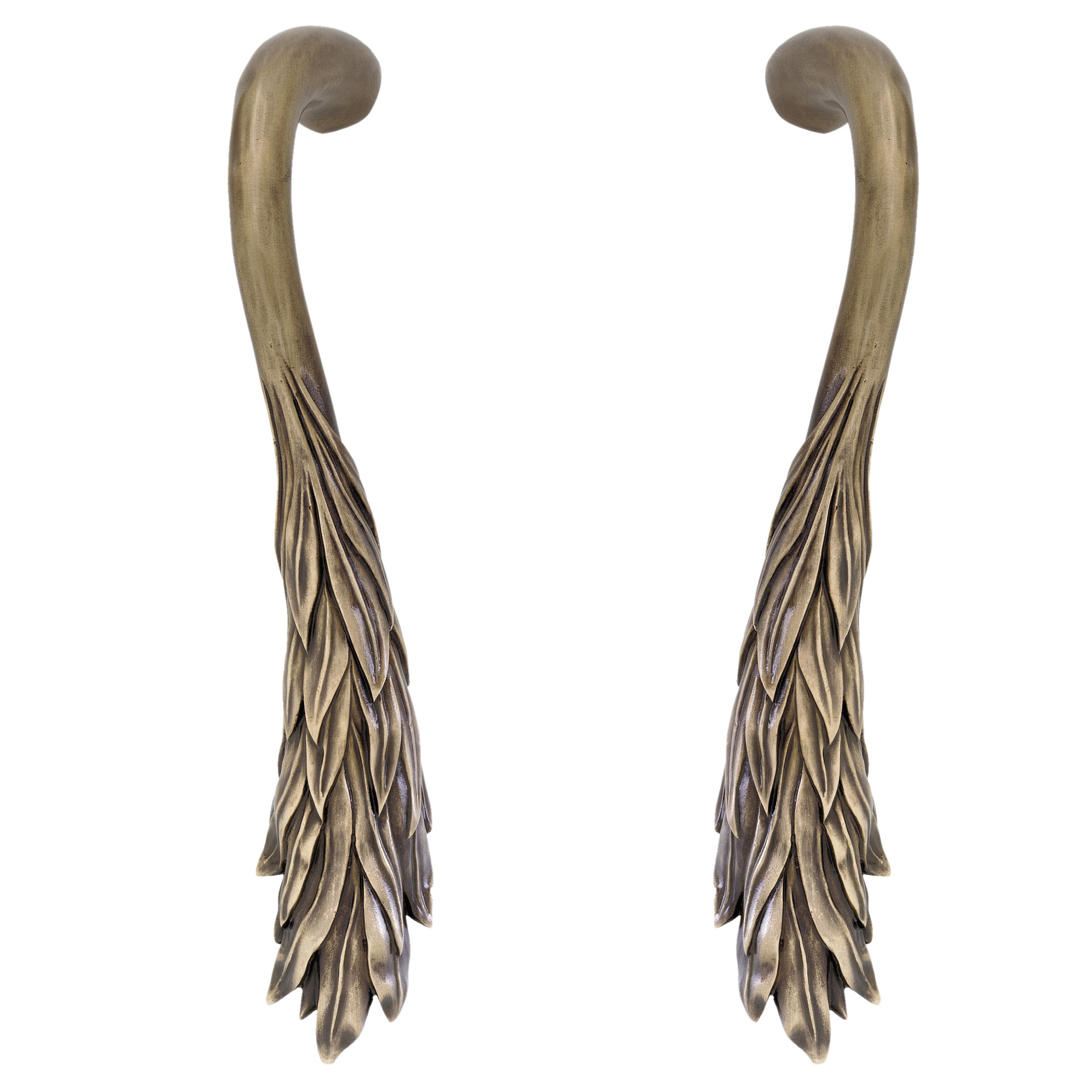 Leaf cabinet pulls Willow