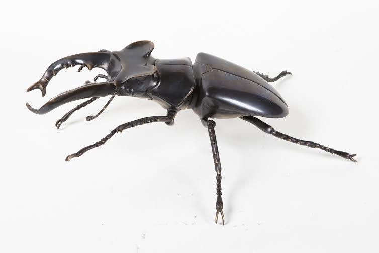 Bronze beetle sculpture by Martin Pierce Hardware Los Angeles CA Photo Doug Hill