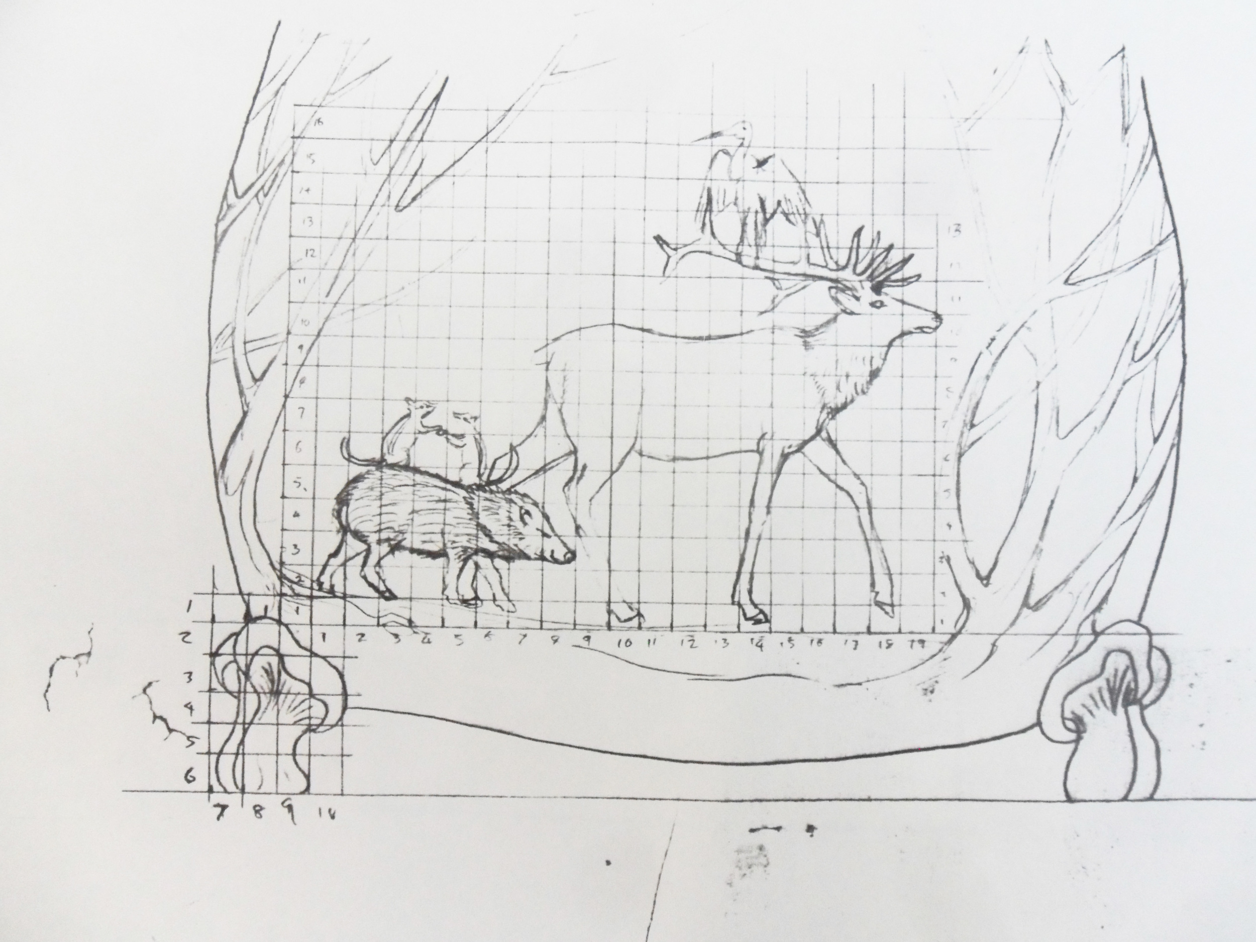 Sketch by Martin Pierce of Martin Pierce Hardware Los Angeles CA 90016