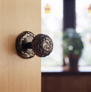 Door knob from Willow collection Martin Pierce Hardware Los Angeles Ca  90016  Photo Doug Hill