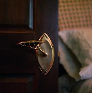 Hedgerow door lever  by Martin Pierce Hardware Los Angeles CA 90016  Photo Doug Hill