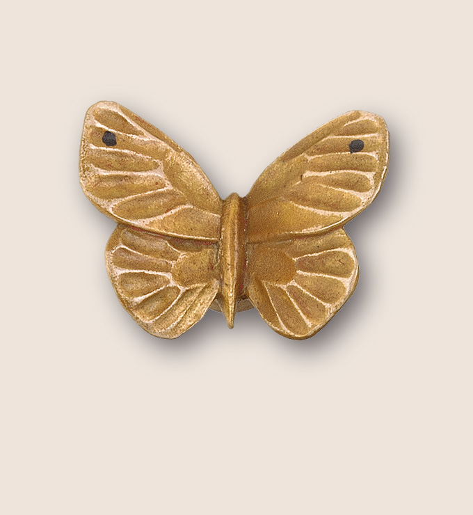 Small  butterfly pull  from Martin Pierce Hardware Los Angeles Ca 90016 Photo Doug Hill