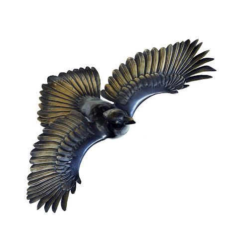 Jay bird bronze sculpture by Martin Pierce Hardware Los Angeles CA 90016 Photo Doug Hill