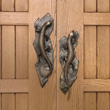 Lizard door handles  from Martin Pierce Hardware Los Angeles Ca 90016  Photo Doug Hill