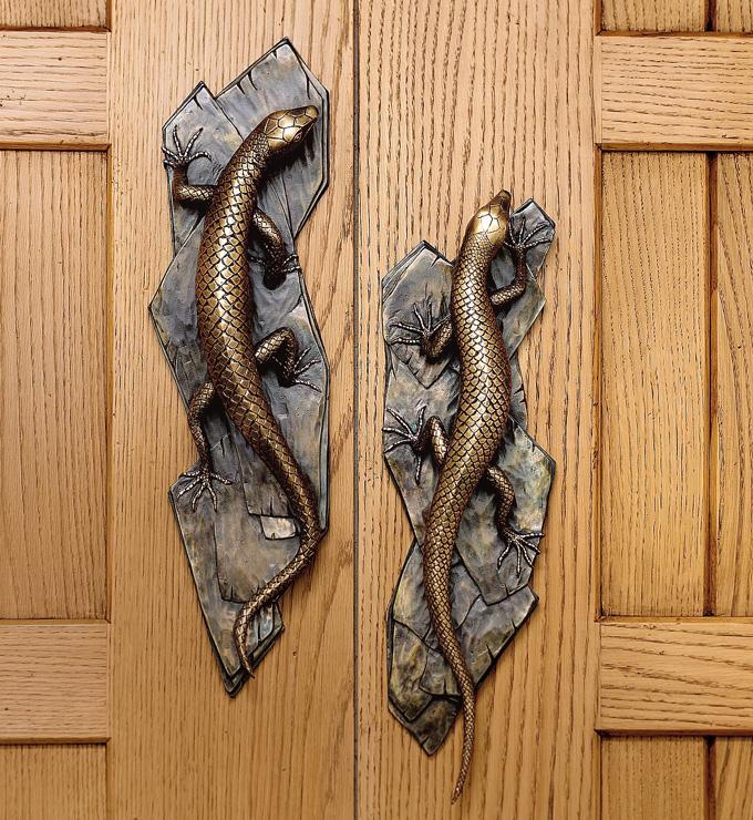 Lizard door handle from  Martin Pierce Hardware  Los Angeles CA