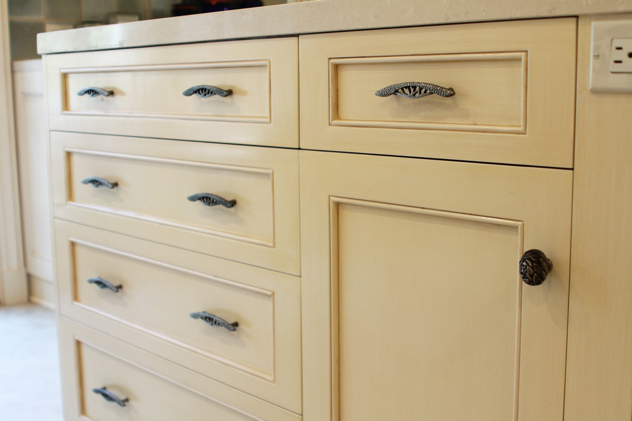 Hedgerow Plant Style Cabinet Pull