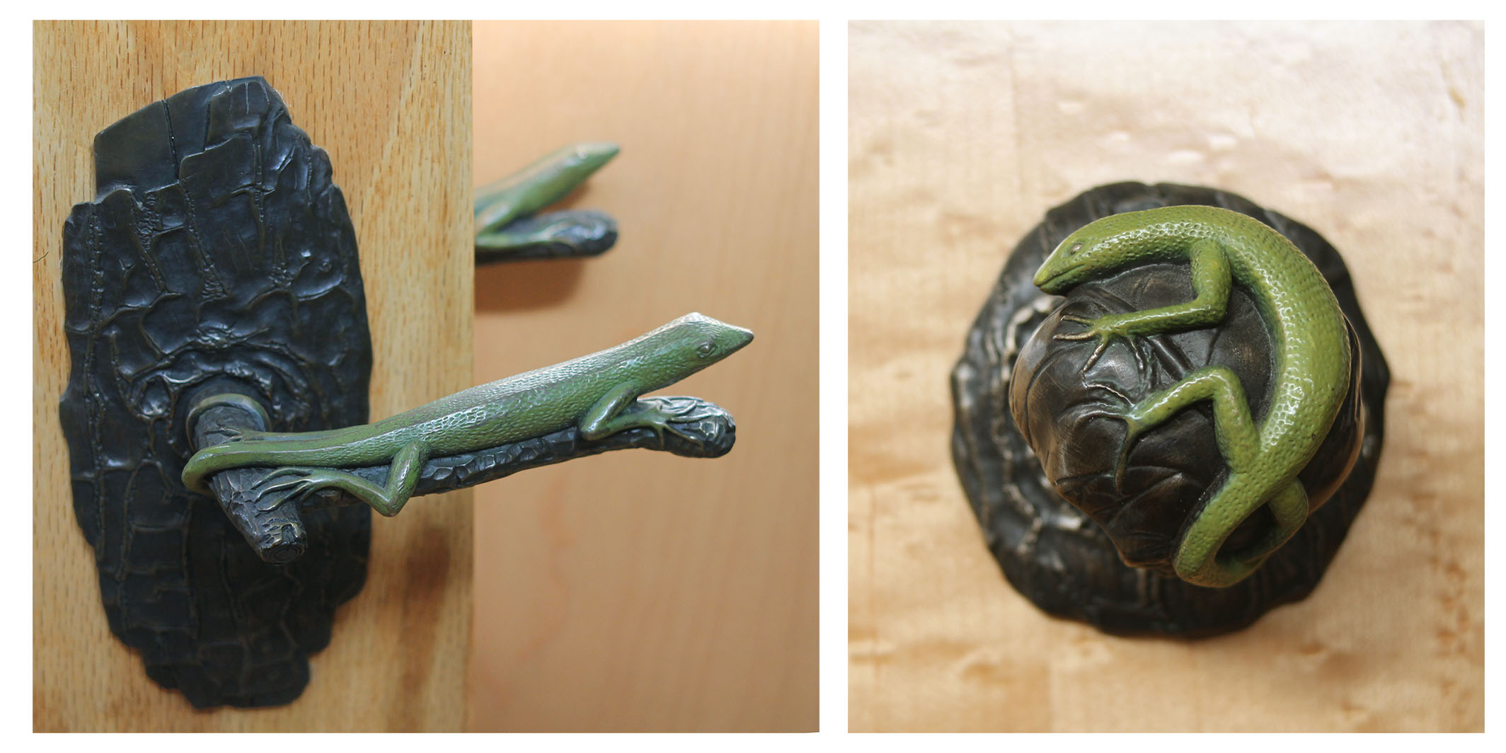 Lizard Door Lever and Lizard door knob