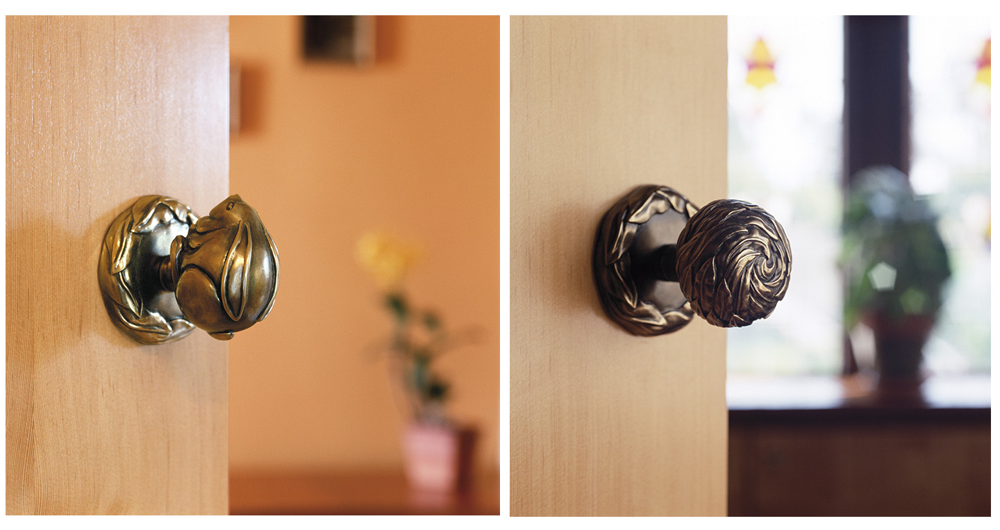 Rabbit Door knob Willow Door Knob