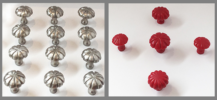 In steel before finishing and in red wax
