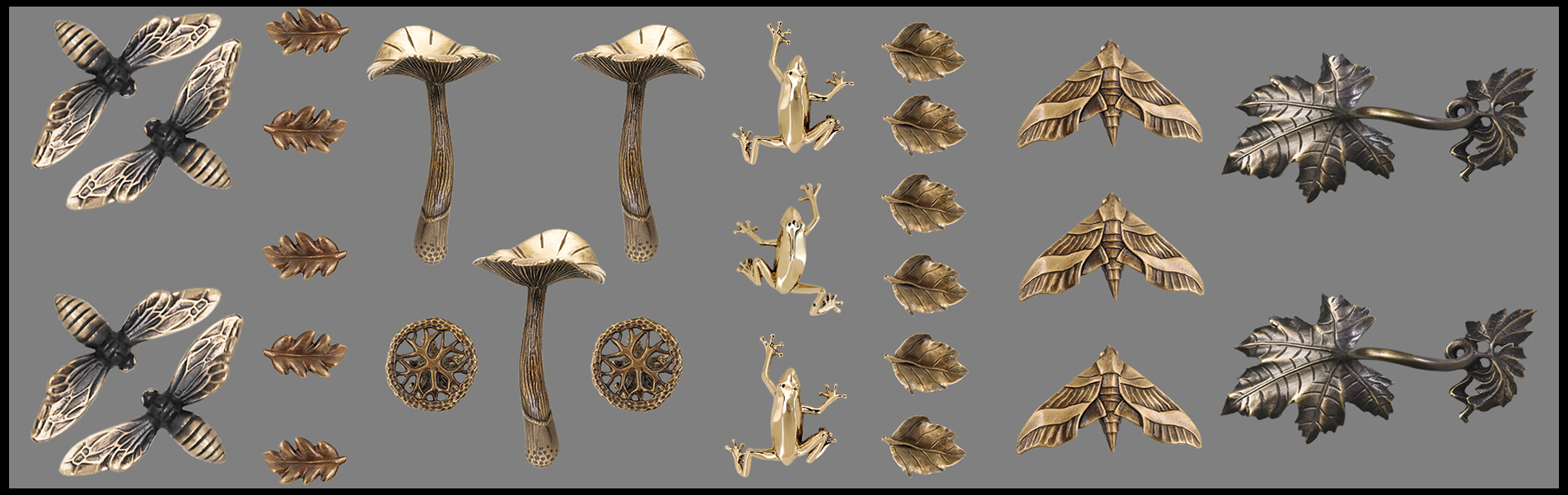 UNIQUE CABINET KNOBS     Animal,Flora,Contemporary