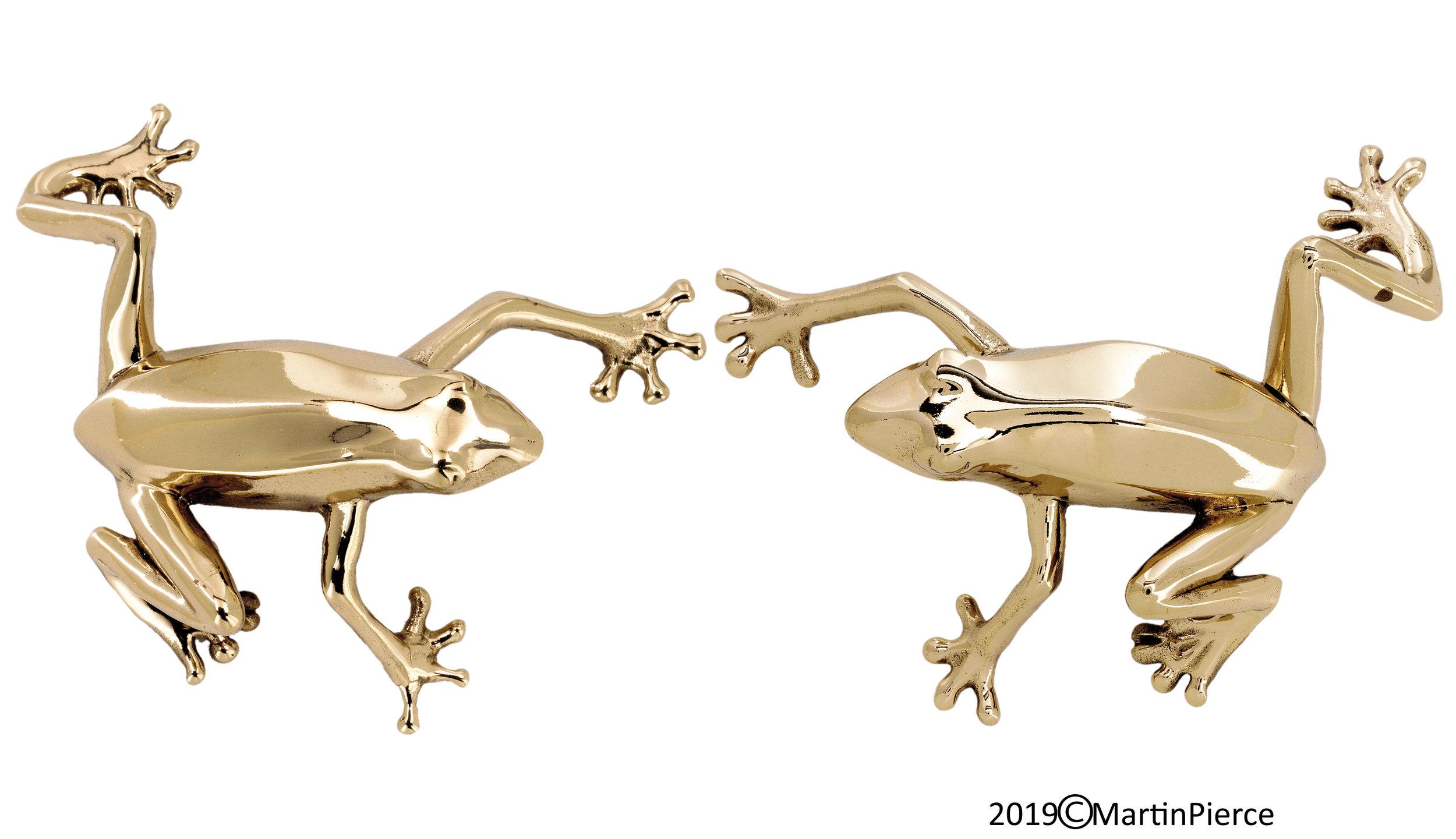 Frog Cabinet Pulls Polished Bronze