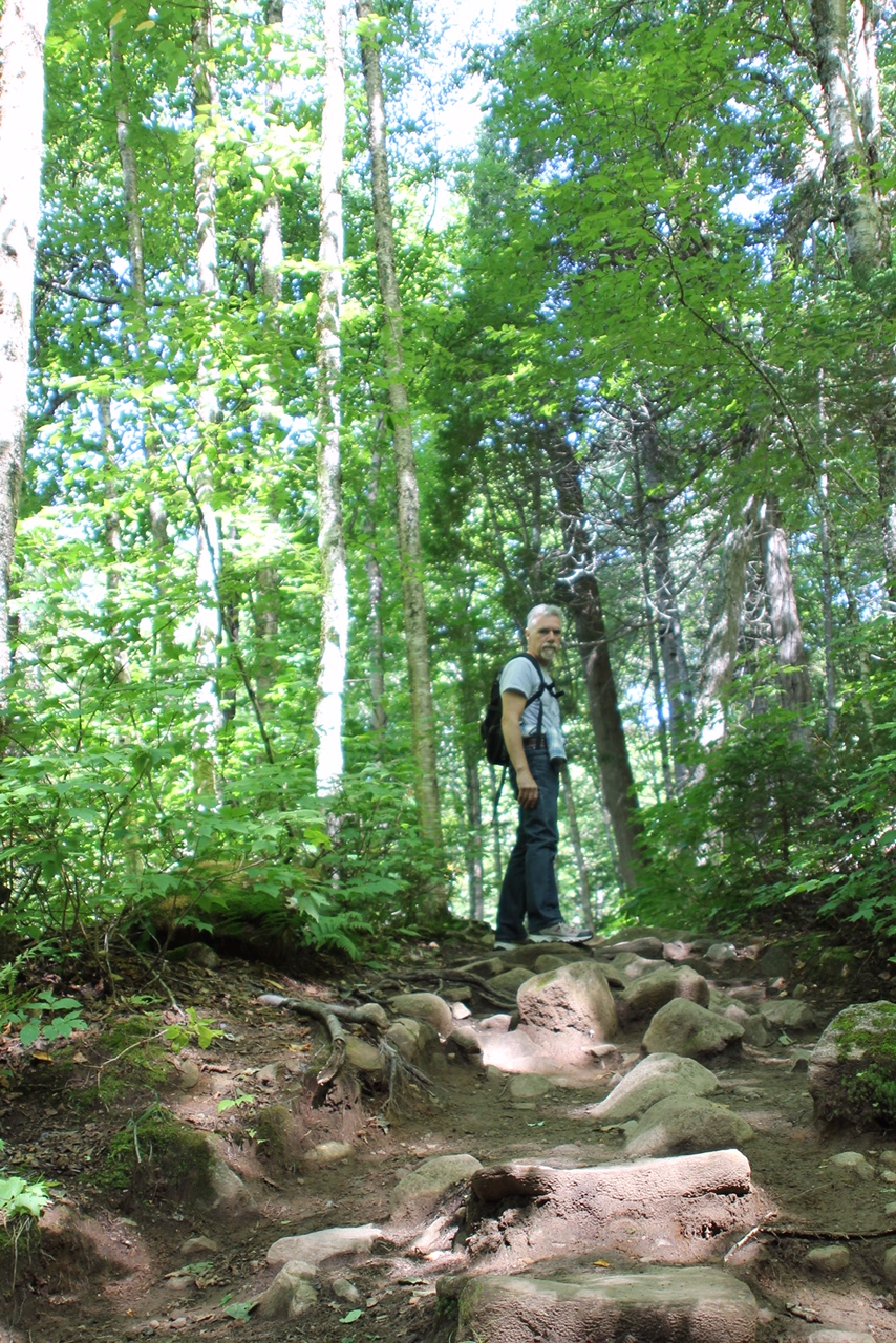 Martin Pierce on the Les Loupes (the wolf) trail.  Use this link for details on this  park and its 200 plus trails visit