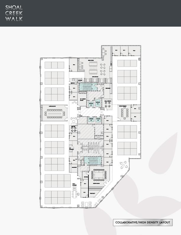 Shoal Creek Walk - Collaborative/High Density Layout