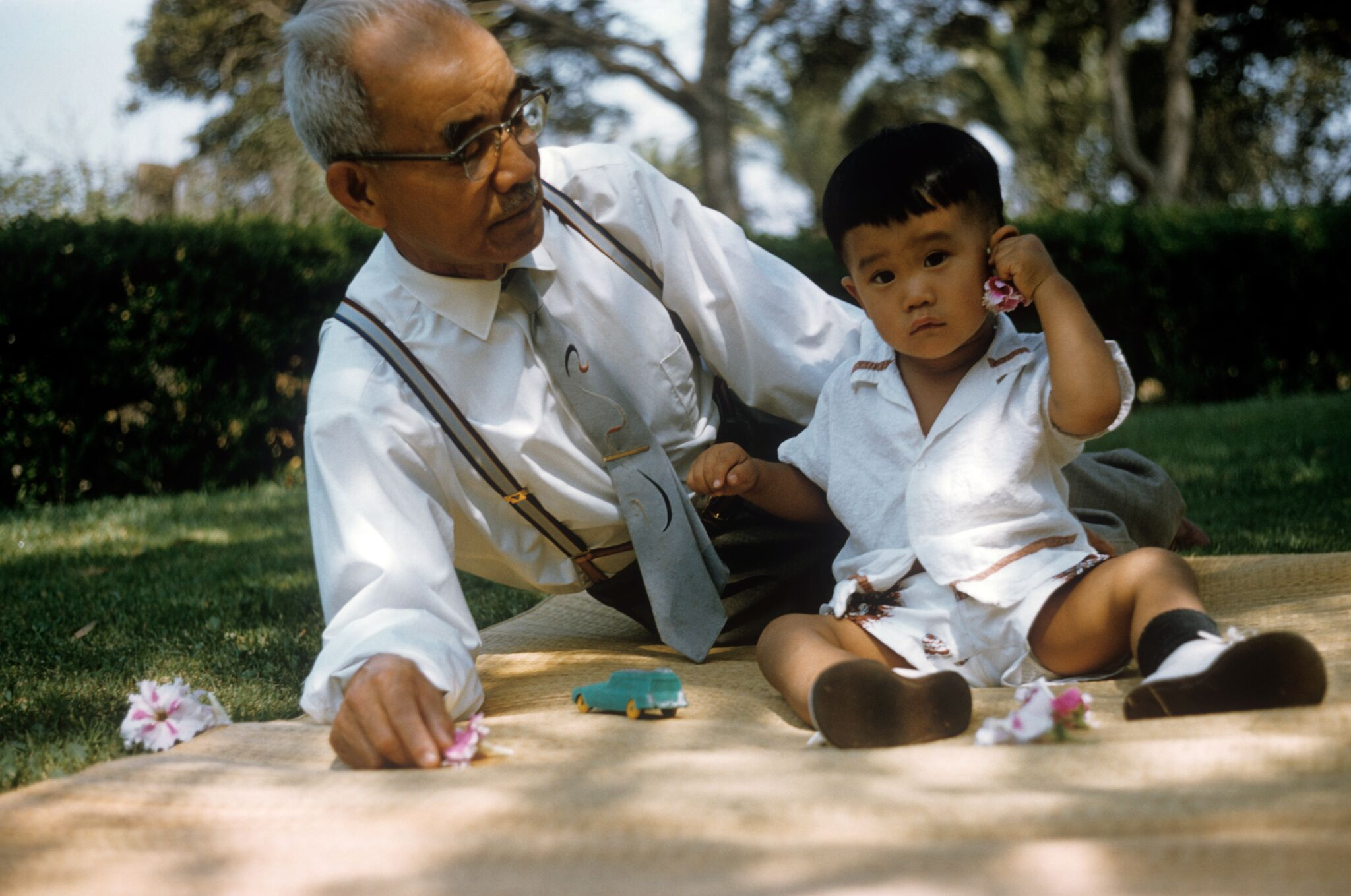 Paul Takemoto and his grandfather