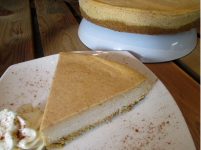 PUMPKIN   SEASONAL (FALL)    A wonderful blend of pumpkin and spices makes this cheesecake a holiday sensation!