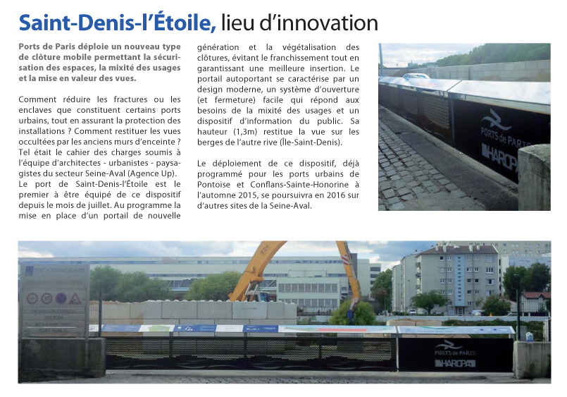 Source _ Newsletter de HAROPA Ports de Paris