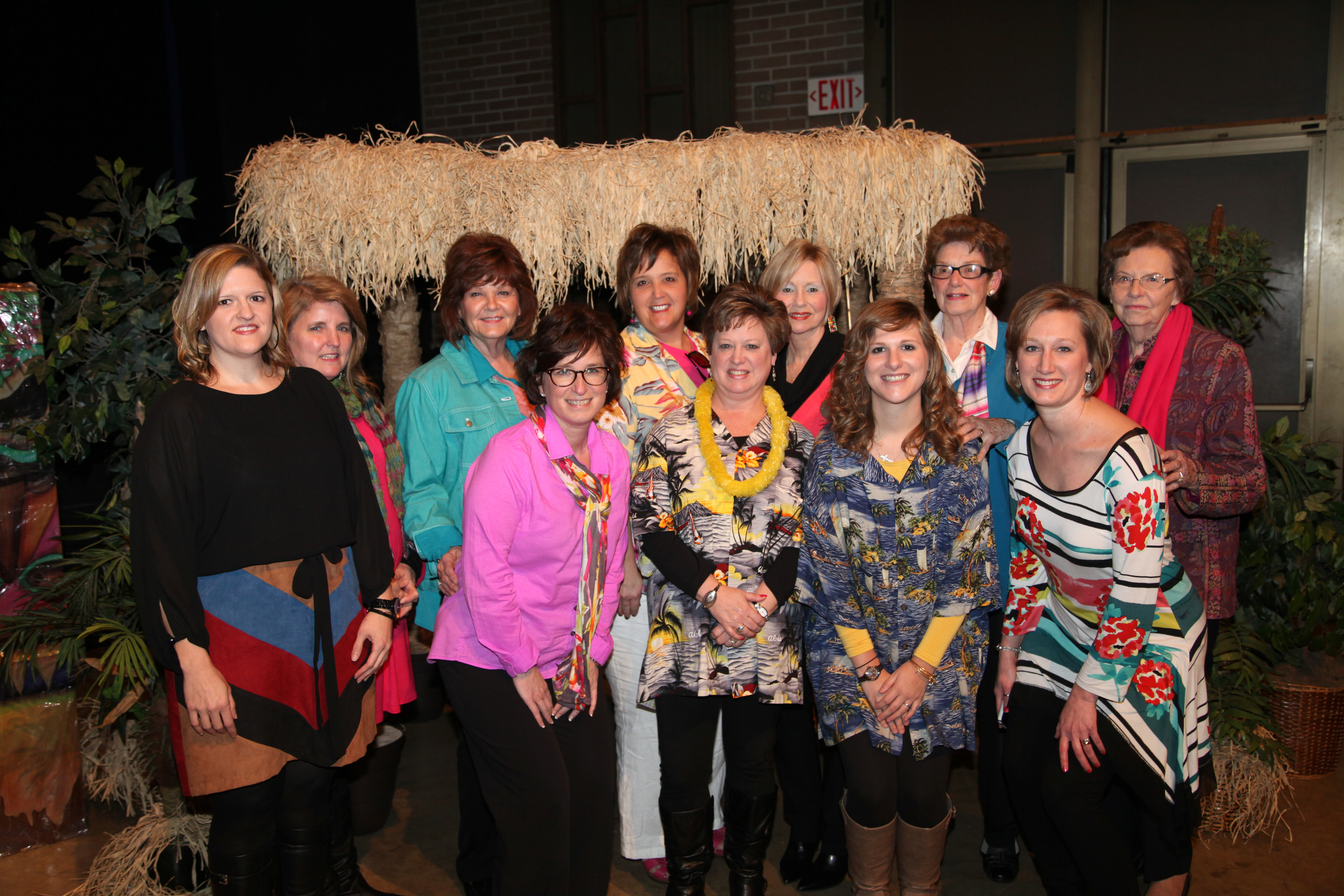 Back: Lisa Brasfield, Lena Gilliland, Irene Park, Diane Autry, Betty Williams & Connie Curbo Front: Holly Garrett, Christy Hutchison, Valerie Hutchison, Lindsey Hutchison & Kristina Kail