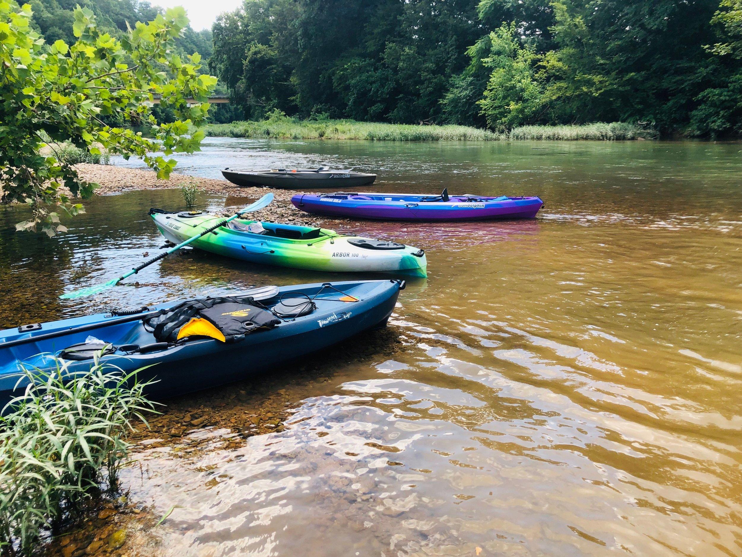 Kayaks on the Buffalo