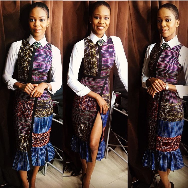 Picture of: Zainab Balogun in a GREY SS16 piece.