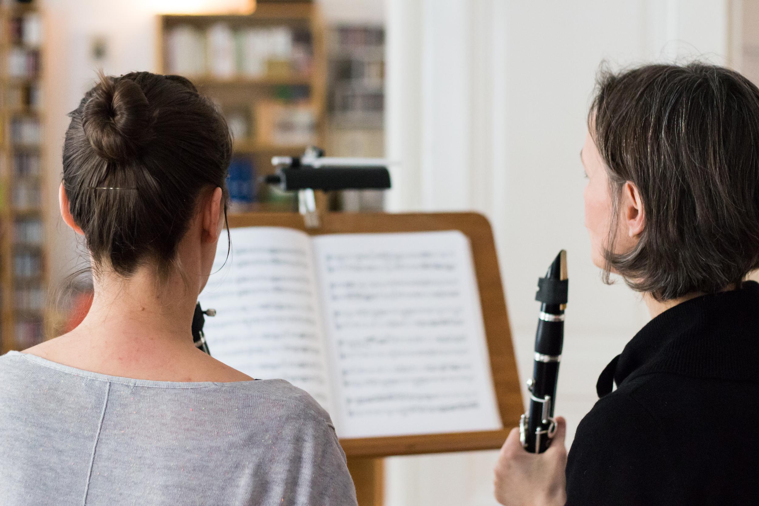 Beim Klarinettenunterricht