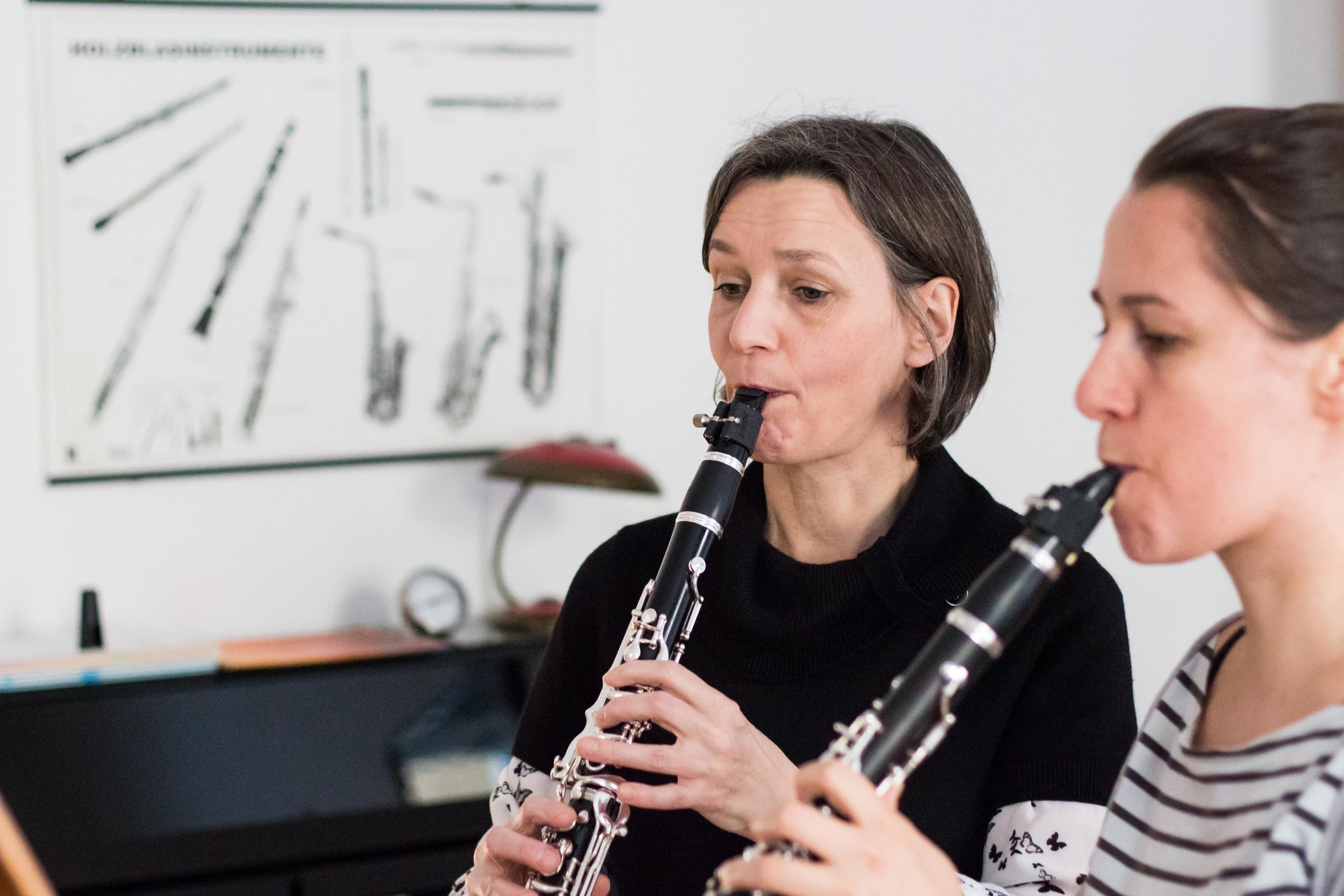 Beim Klarinettenunterricht in Wien
