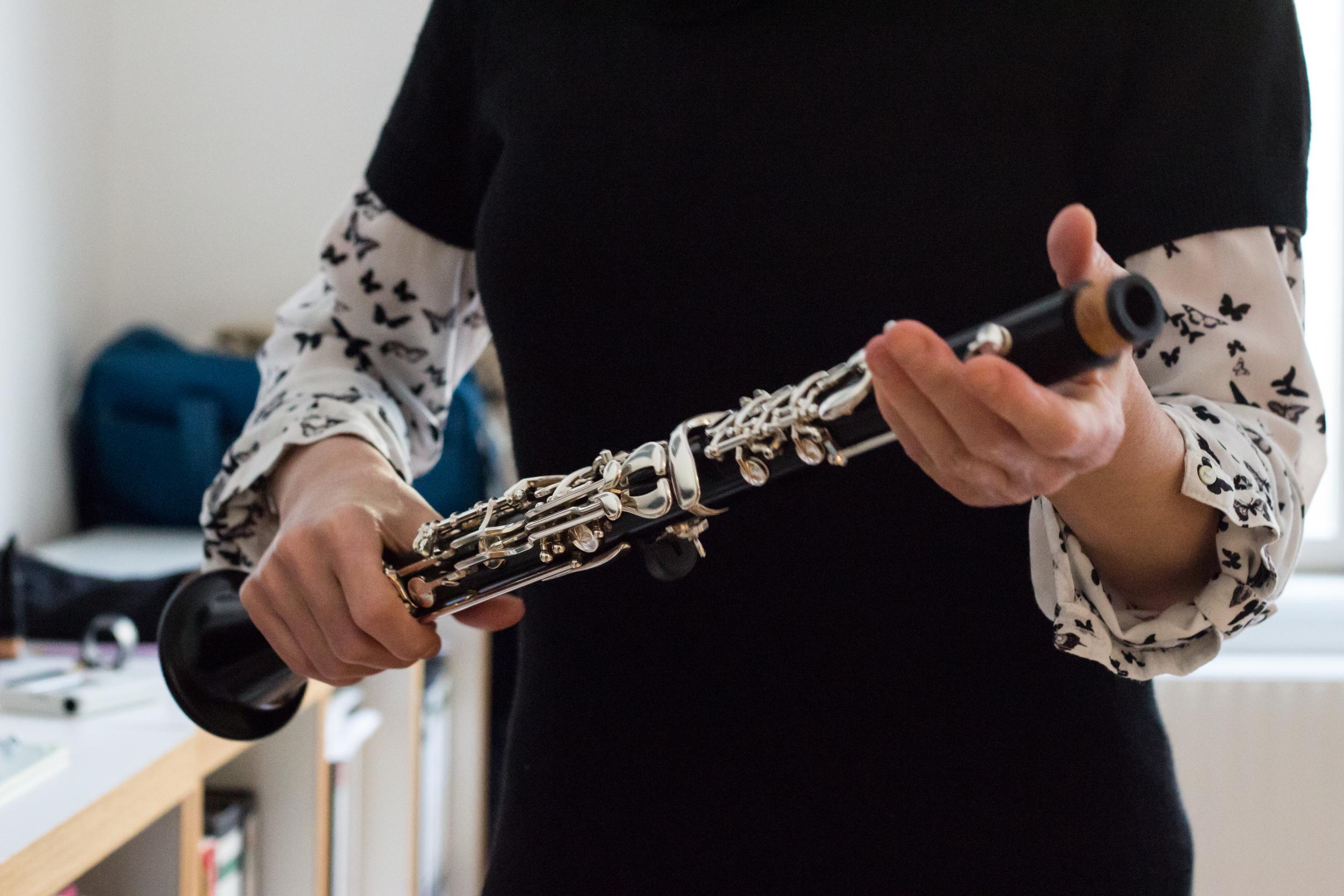 Die Klarinette zusammenbauen