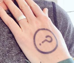 "A ""Run cleanish"" temporary tattoo."