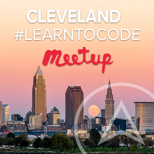 Join our #learntocode meetup group and get to know Cleveland tech