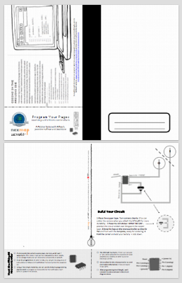 Card Stock Template for Program Your Pages Activity from the Hack Your Notebook series.