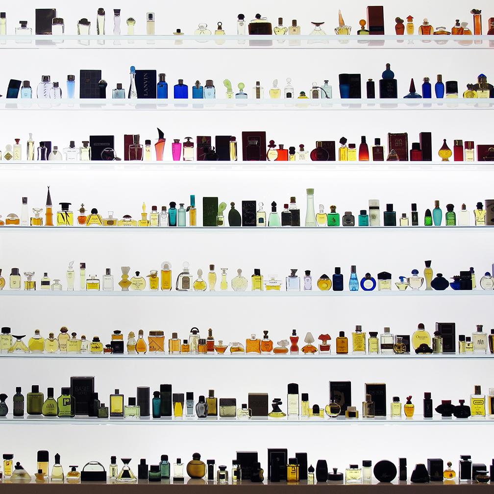 Wall of perfume