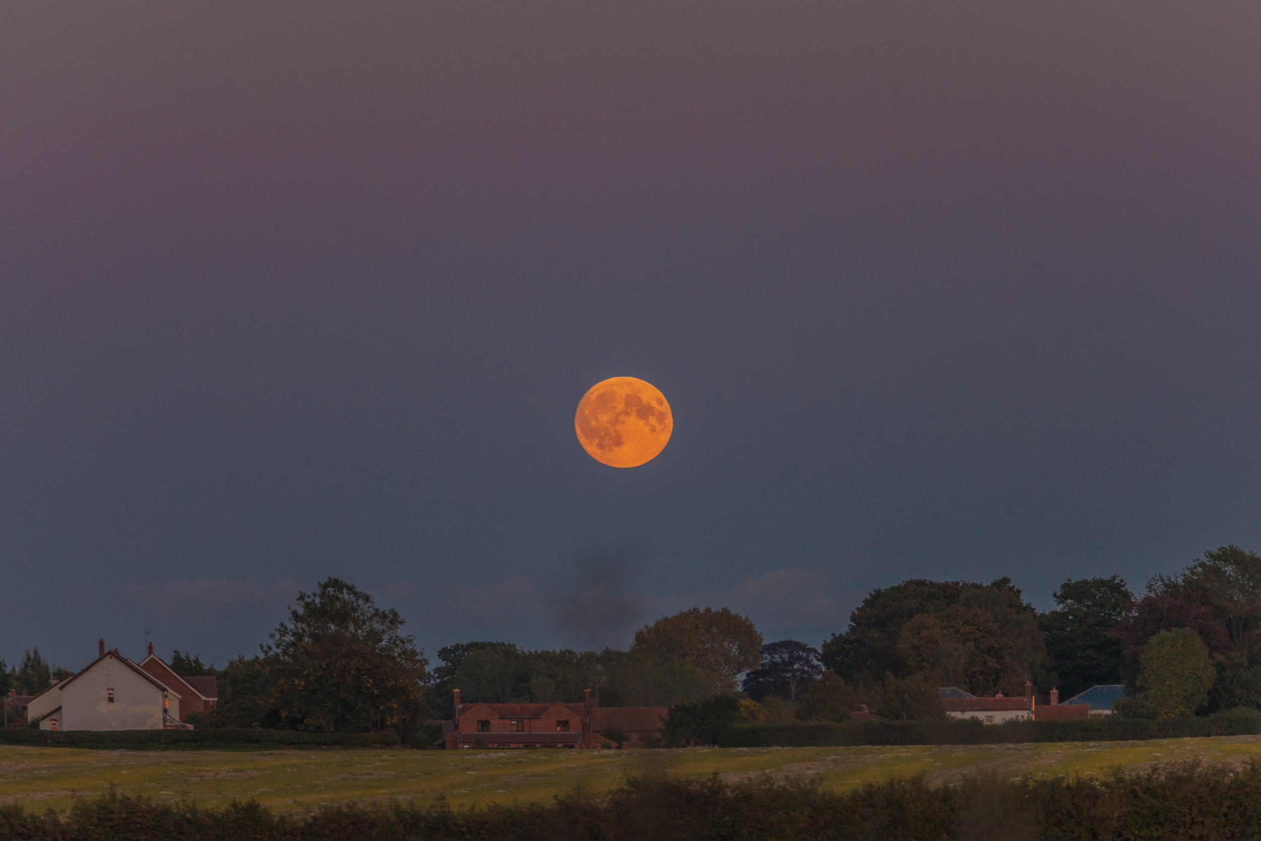 Super Blood Moon Rise over North Norfolk September 27th 2015