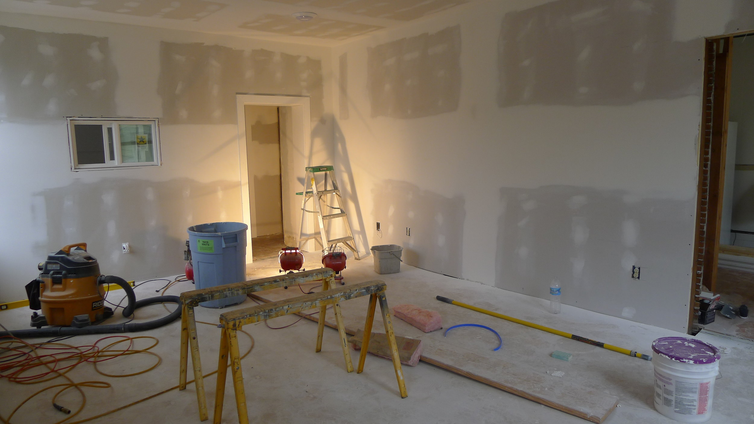 """You never know what you are going to find in old buildings - a simple """"let's just paint the existing walls"""" gone pretty much astray."""