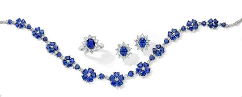 Sapphires - The most adaptable of colors, the intense true blue of our sapphire collection will stun you with its depth and beauty. Like the softest of royal blue velvets, our sapphires seem to glow from within. See for yourself—one look and you'll fall in love. All exclusively designed and created by T. Foster & Co.