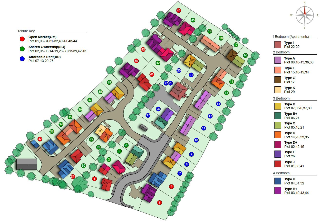 2D Site Plans - 2D Site plans are a great way to show potential house buyers exactly where their new home will sit on site