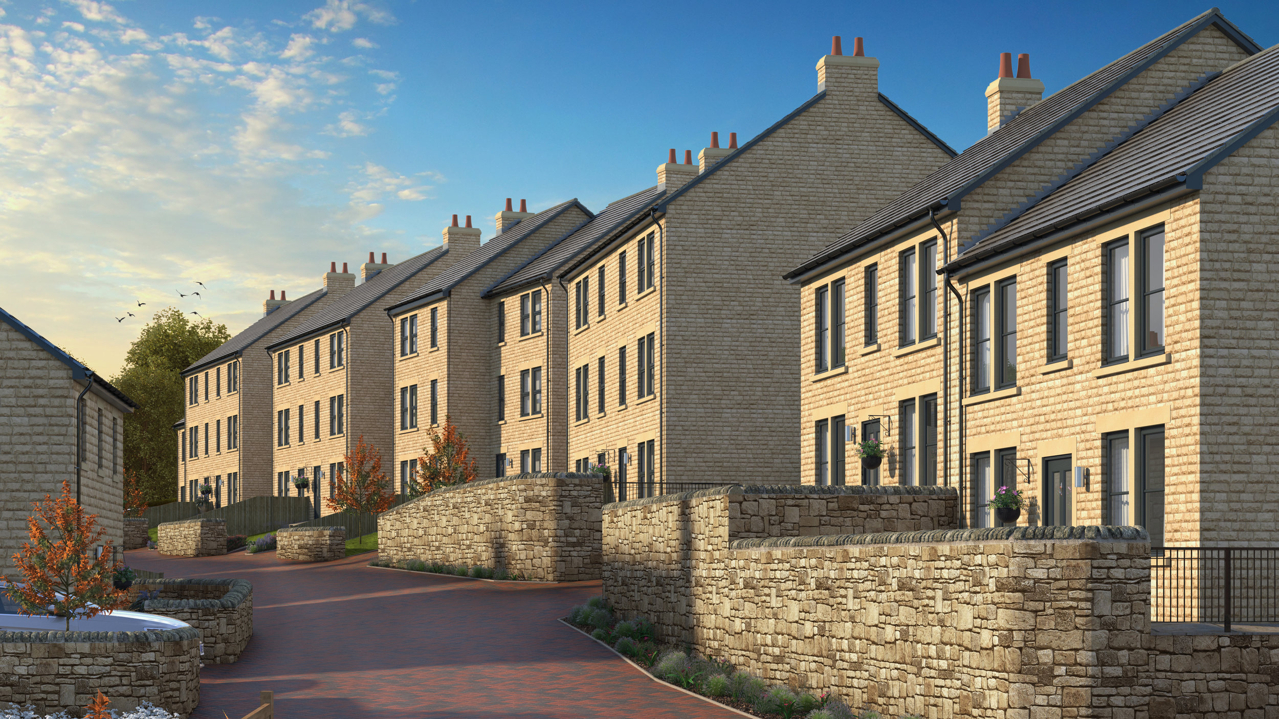 CGI Street scene - Architectural Visualisation Derbyshire.jpg