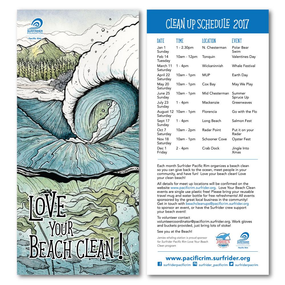 2017 Beach Clean Schedule