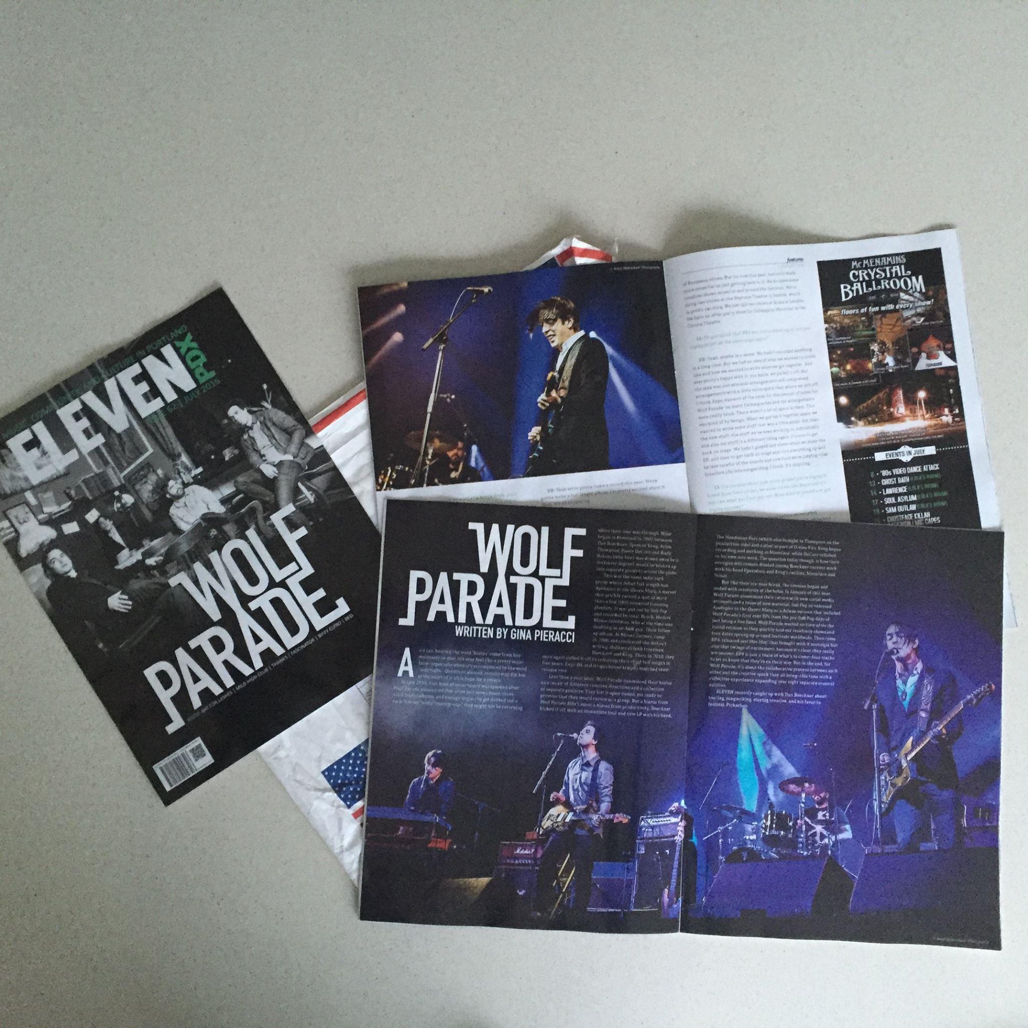Wolf Parade in US magazine Eleven