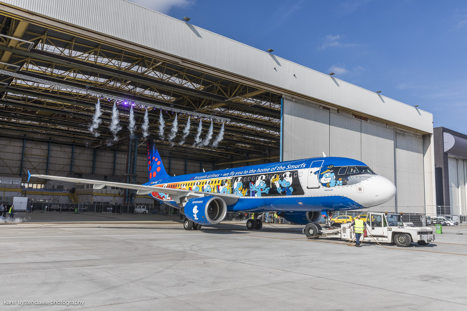 Introduction Brussels Airlines Aerosmurf #SNSmurfs