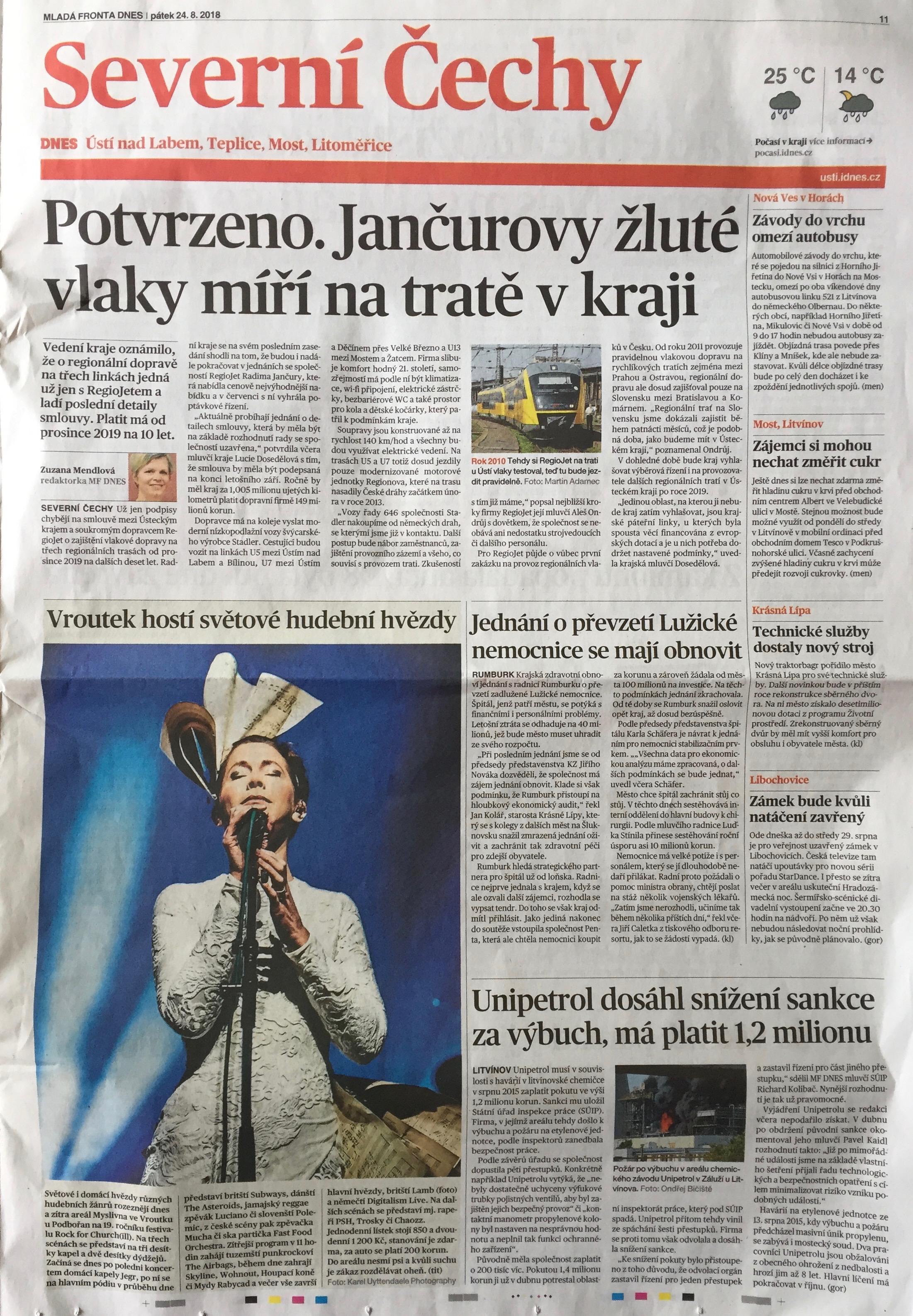 Lamb in MF DNES Severni Cechy (newspaper in Czech Republic)