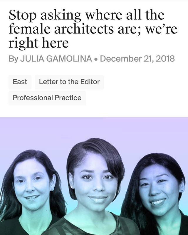 Thank you for this article @madamearchitect ! 👏🏽👏🏽👏🏽 Share those stories, our stories, please. #wearehere